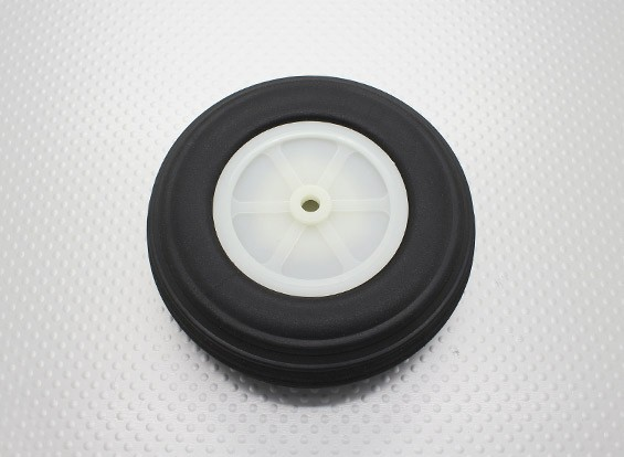 """3.75""""/95.3mm超轻PU橡胶滚轮刻度"""