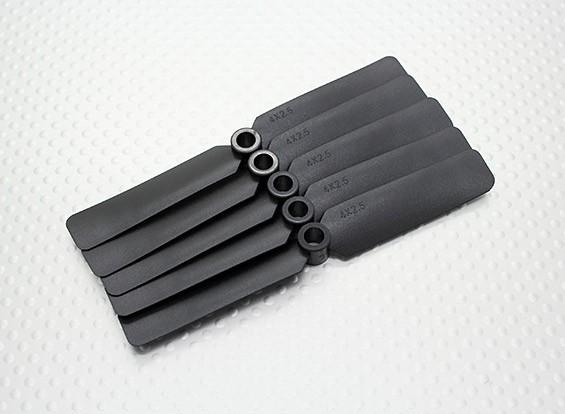 Hobbyking™螺旋桨4x2.5黑色(CCW)(5片装)