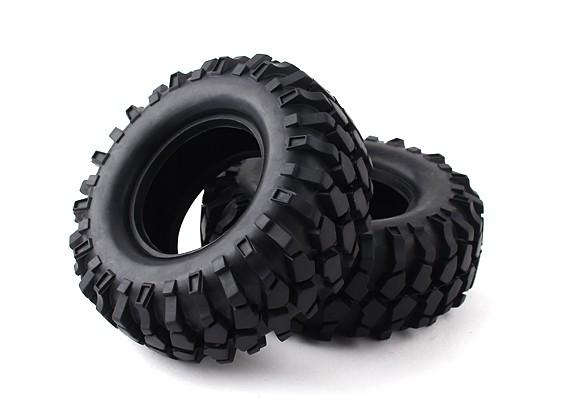 """1/10比例1.9""""履带式轮胎/ KRT固体插入(2个)"""