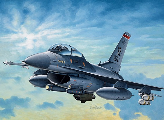 Italeri 1/72比例F-16 C / D夜隼塑料模型套件