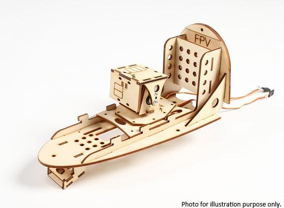 平移和倾斜的座舱与360deg移动基地鹰眼1700 PC FPV平面W / O舵机