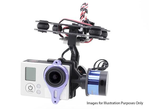 塔罗T-2D的GoPro 3无刷相机万向节和ZYX22控制器