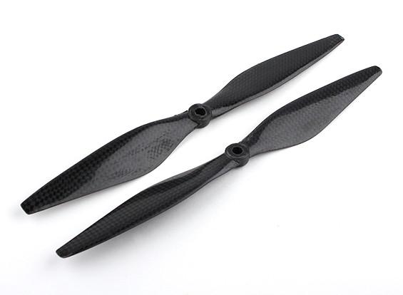 多星型碳纤维与DJI配件螺旋桨10x3.8黑色(CW / CCW)(2个)