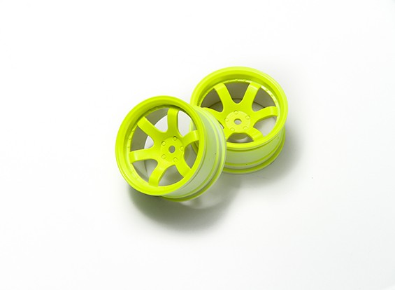 1时10分拉力轮6辐式荧光黄(9毫米偏移)