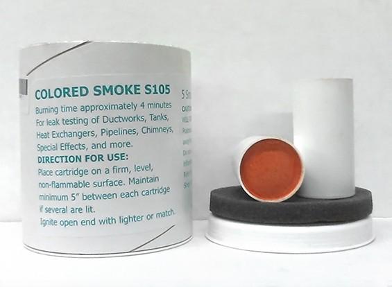 4分钟橙色烟雾筒(5片装)