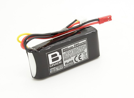 B级的800mAh 2S 35C Lipoly电池