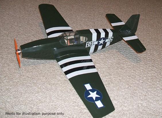 园比例模型心血来潮系列P-51C野马