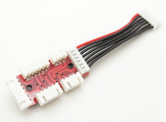 适配器板2S-6S Lipoly电池与JST-XH平衡插头