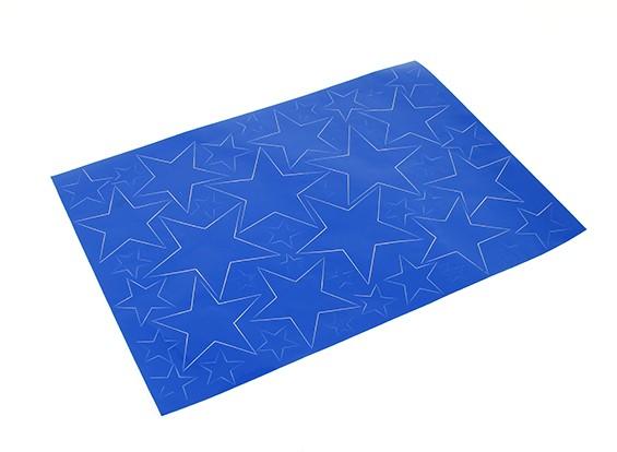星图不干胶贴纸套装420毫米x 300毫米(蓝色)(1个)
