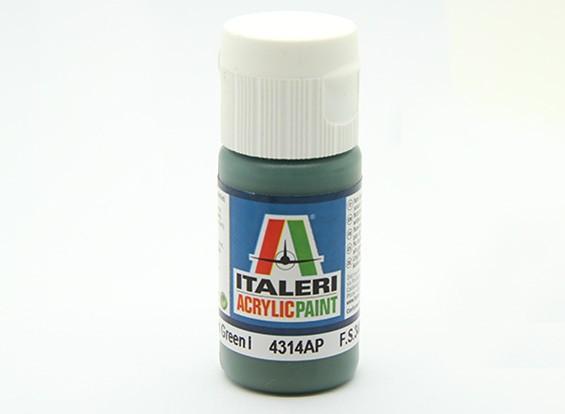 Italeri丙烯酸涂料 - 平中绿1