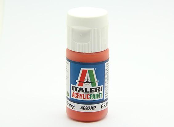 Italeri丙烯酸涂料 - 橙色光泽