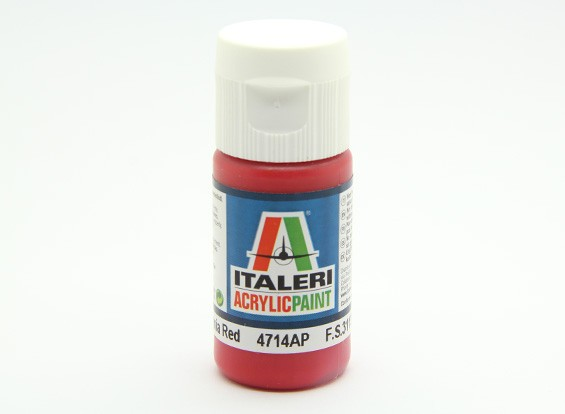 Italeri丙烯酸涂料 - 平红徽章