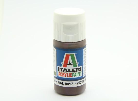 Italeri丙烯酸涂料 - 平Pz的Schokobraun RAL 8017