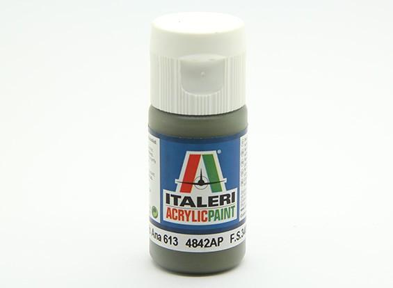 Italeri丙烯酸涂料 - 平橄榄色安娜613