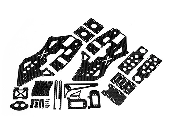 RJX的X TRON 500完整碳纤维框架集#X500-61082Set