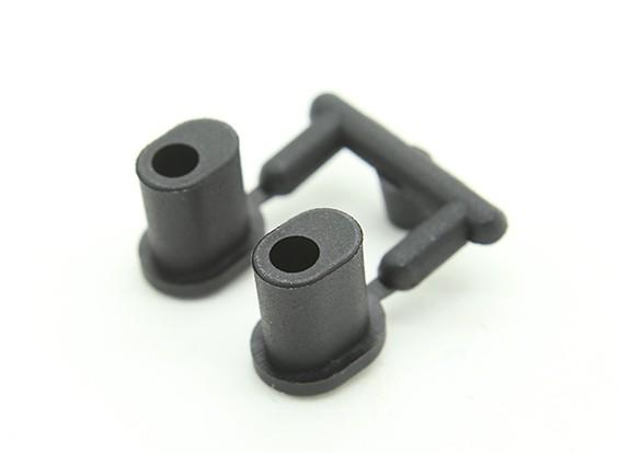 XRAY XB9E 1/8巴吉 - 复合套管铝合金后轮毂座(2) -  XB808,XB9E