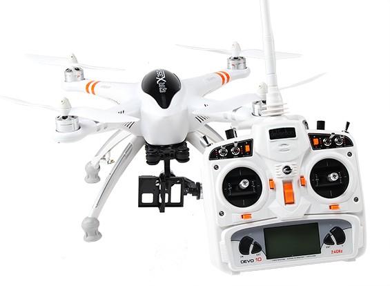 华科尔QR X350 PRO FPV GPS RC四轴飞行器与G-2D万向节和DEVO 10(模式1)(箭在弦上)
