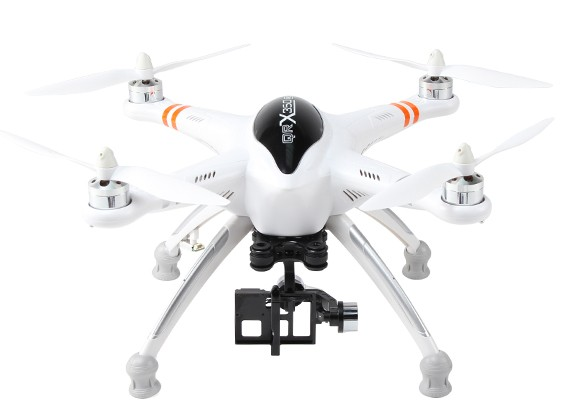 华科尔QR X350 PRO FPV GPS RC四轴飞行器与G-2D万向(PNF)