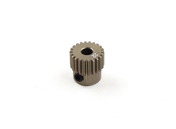 XRAY T4 2014年1/10房车 - 小齿轮铝。硬涂层22T 64P  -  T4