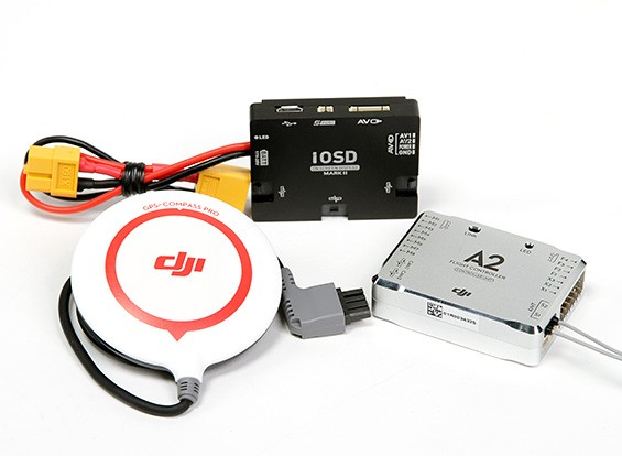 DJI A2多旋翼飞行控制系统瓦特/ iOSD MARK II组合
