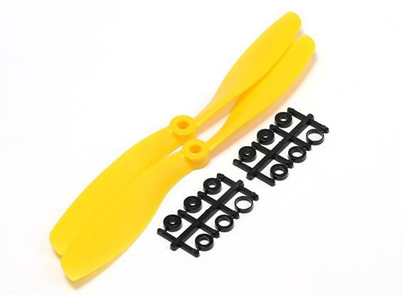 Turnigy Slowfly螺旋桨8x4.5黄色(CCW)(2个)