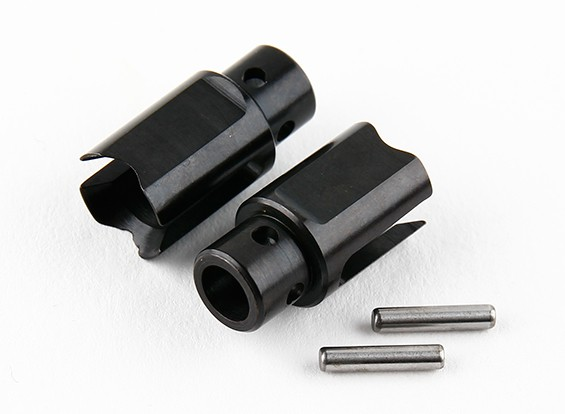 锤RZ-4 1/10拉力赛车 - 前整体桥阀芯Outdrive  - 钢铁(2个)