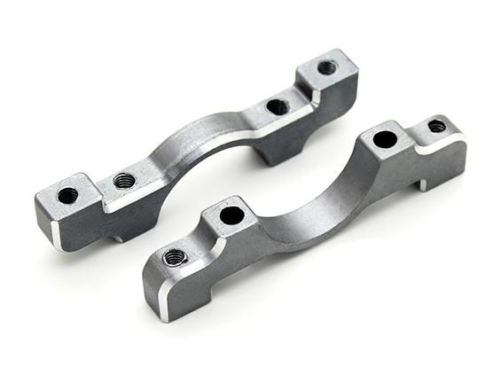 钛金色阳极氧化铝合金CNC管夹直径16mm