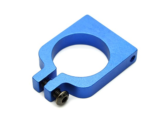蓝色阳极氧化单面CNC铝合金管夹直径20mm