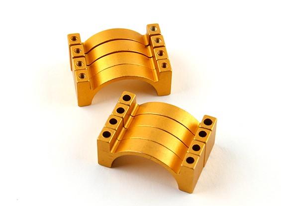 金阳极氧化双面CNC铝合金管夹直径25mm
