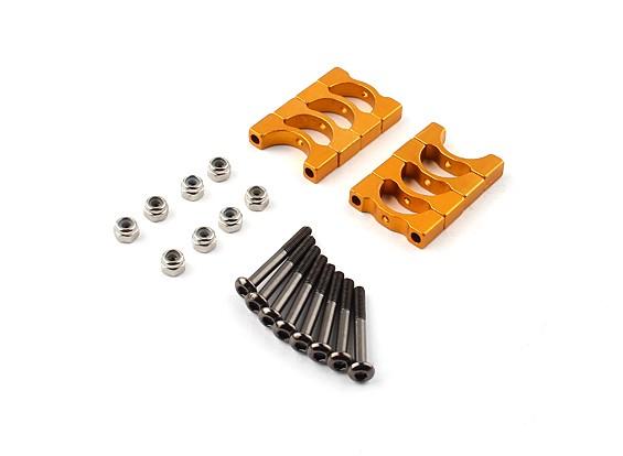 金阳极氧化CNC超级轻合金管夹直径12mm(4设置)