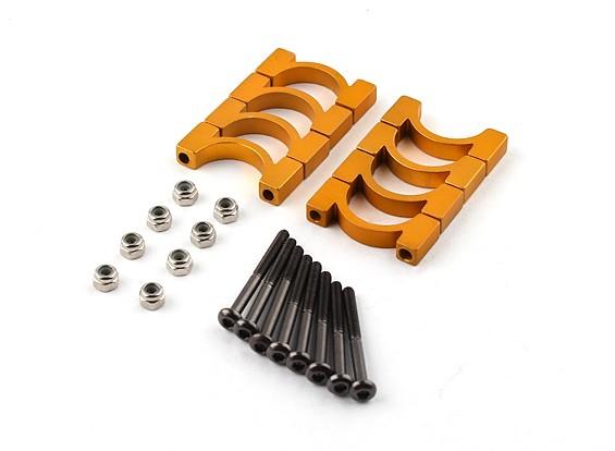 金阳极氧化CNC超级轻合金管夹直径为16mm(4设置)