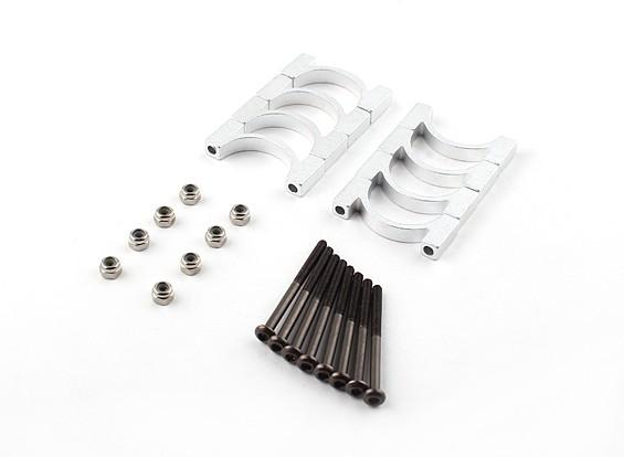 银色阳极氧化铝合金CNC管夹直径20mm(4设置)