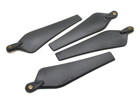 多转子折叠螺旋桨7x4.5黑色(CW / CCW)(2个)