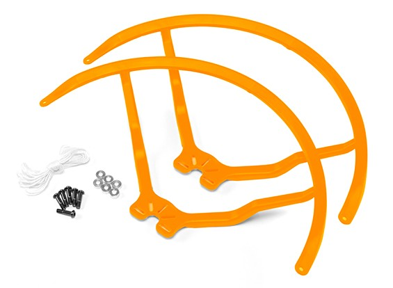 8英寸塑料通用多旋翼螺旋桨后卫 - 黄色(2套)