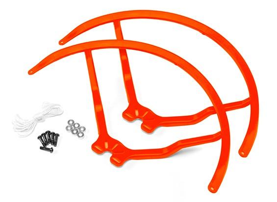 8英寸塑料通用多旋翼螺旋桨后卫 - 橙色(2套)