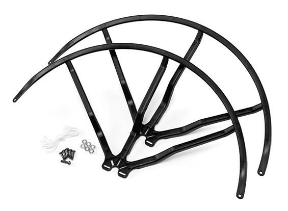 12英寸塑料通用多旋翼螺旋桨后卫 - 黑色(2套)