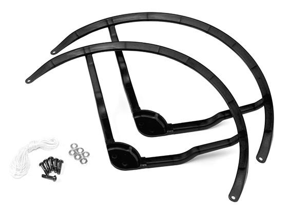 8英寸塑料多旋翼螺旋桨卫队为DJI幻影1  - 黑色(2套)