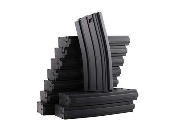 国王武器120rounds杂志的丸井M4 / M16 AEG系列(黑色,10片/盒)
