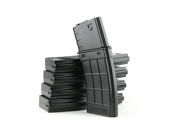 国王武器130rounds TangoDown风格的杂志M4 AEG(黑,5片/盒)