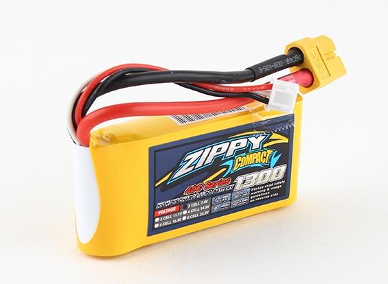 ZIPPY紧凑型1300mAh的2S 40C前列包
