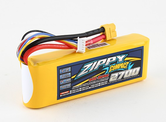 ZIPPY紧凑2700mAh 4S 60C前列包