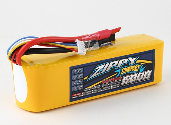 ZIPPY紧凑型5000mAh的4S 60C前列包