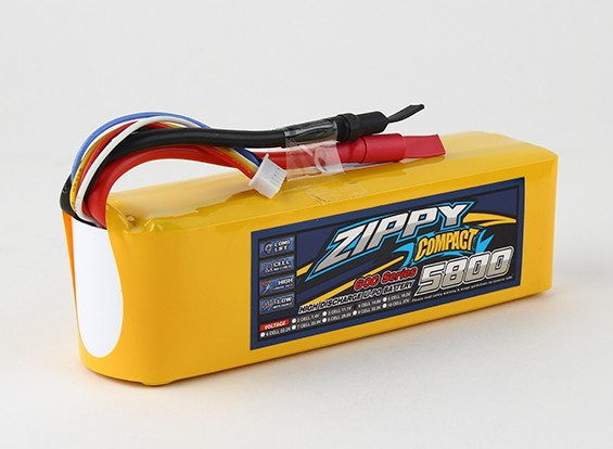 ZIPPY紧凑型5800mAh的4S 60C前列包