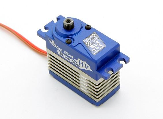 BLS-26A高电压(7.4V)无刷数字伺服瓦特/钛合金齿轮26.5公斤/ .09sec /74克