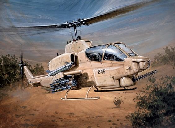 Italeri 1/48规模贝尔AH-1W超级眼镜蛇塑料模型套件