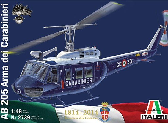 Italeri 1/48规模AB-205宪兵塑料模型套件