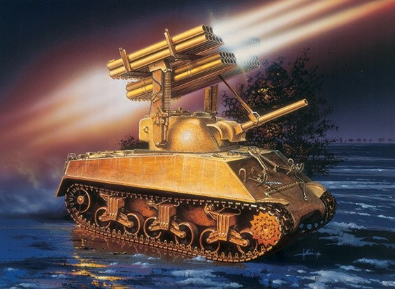 Italeri 1/35比例M4A3谢尔曼汽笛风琴车辆模型套件