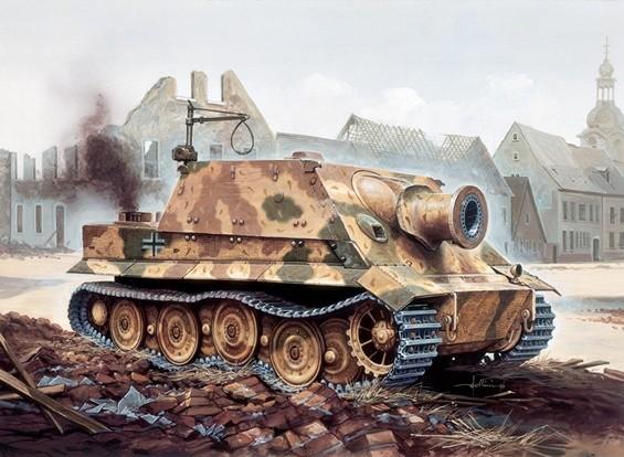 Italeri 1/35规模RW 61奥夫Sturmmorser虎塑料模型套件