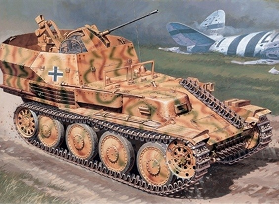 Italeri 1/35规模的德国Sd.Kfz.140 38号防空坦克塑料猎豹模型套件
