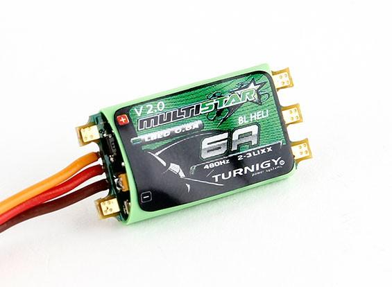 Turnigy多星6A V2 ESC随着BLHeli和LBEC 2-3S